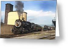 Old 3254 Heading Down The Line Greeting Card