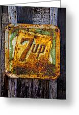 Old 7 Up Sign Greeting Card