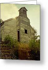 Old Abandoned Country  School Greeting Card