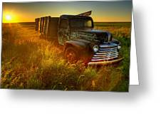 Old Abandoned Farm Truck Greeting Card
