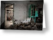 Old Abandoned Kitchen Greeting Card