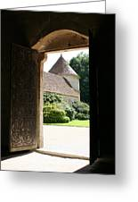 Old Abbey Church Door - Abbey Fontenay Greeting Card