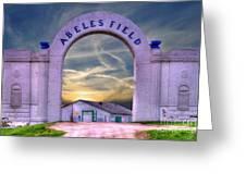 Old Abeles Field - Leavenworth Kansas Greeting Card