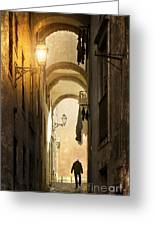 Old Alley Greeting Card by Carlos Caetano
