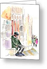 Old And Lonely In Salamanca Greeting Card