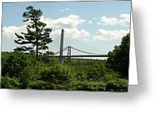 Old And New Bridges Over Penobscot Greeting Card