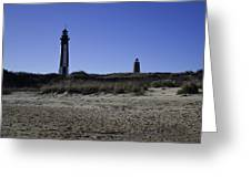 Old And New Cape Henry Lighthouse Greeting Card