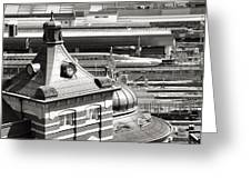 Old And New Tokyo Station Greeting Card