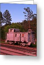 Old And Weathered Caboose Greeting Card