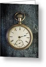 Old Antique Pocket Watch Greeting Card