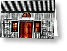 Old Antique Wooden House Greeting Card