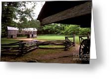 Old Appalachian Barn Yard Greeting Card