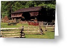 Old Appalachian Farm Cantilevered Barn Greeting Card