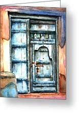 Old Arabian Door Greeting Card