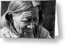 Old Arapaho Man Circa 1910 Greeting Card by Aged Pixel