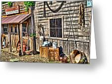Old Bait Shop And Antiques Greeting Card