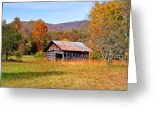 Old Barn Along Slick Fisher Road Greeting Card