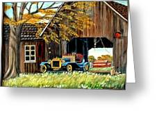 Old Barn And Old Car Greeting Card