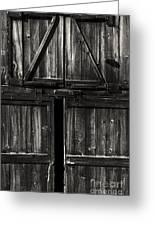 Old Barn Door - Bw Greeting Card
