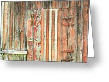 Old Barn Door Greeting Card