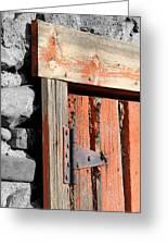 Old Barn Door Greeting Card