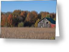 Old Barn In Armada Greeting Card