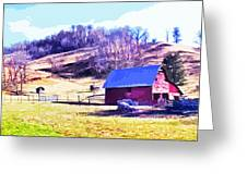 Old Barn In November Filtered Greeting Card
