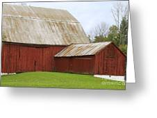 Old Barn Greeting Card by Kathy DesJardins