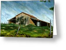 Old Barn Landscape Art Pleasant Hill Louisiana  Greeting Card