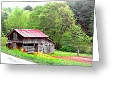 Old Barn Near Willamson Creek Greeting Card