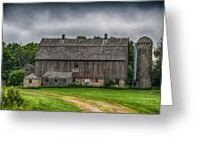 Old Barn On A Stormy Day Greeting Card