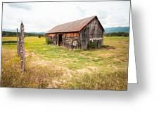 Old Barn On Highway 86 - Rustic Barn Greeting Card