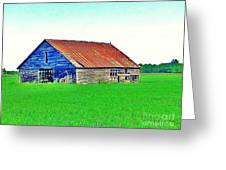 Old Barn On Treaty Road Oakhill Kansas Greeting Card