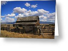 Old Barn Rush Valley Greeting Card