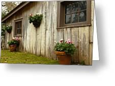 Old Barn Side Greeting Card