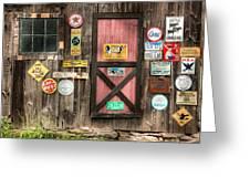 Old Barn Signs - Door And Window - Shadow Play Greeting Card