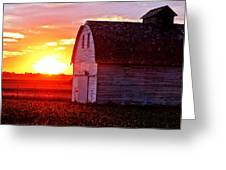 Old Barn Sunset Greeting Card