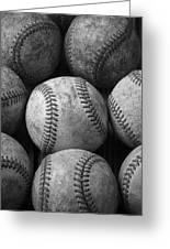 Old Baseballs Greeting Card by Garry Gay
