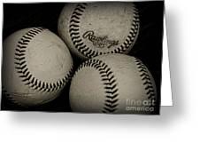 Old Baseballs Greeting Card