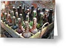 Old Beer Bottles Greeting Card