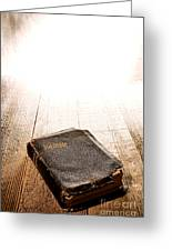 Old Bible In Divine Light Greeting Card