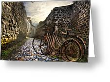 Old Bicycles On A Sunday Morning Greeting Card