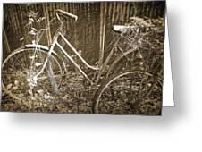 Old Bikes Greeting Card