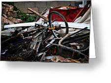 Old Bikes - Series I Greeting Card