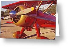 Old Biplane I I I Greeting Card
