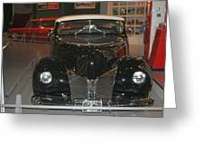 Old Black And White Hardtop Greeting Card