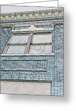 Old Blue Building I Greeting Card