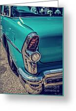 Old Blue Car Greeting Card