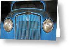 Old Blue Greeting Card