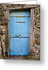 Old Blue Door Greeting Card